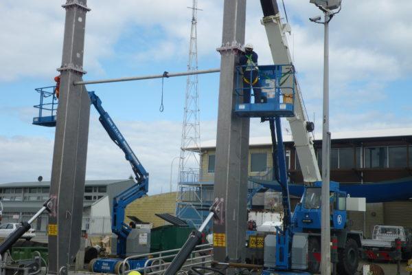 Aluminium A-frame repairs and installation 1