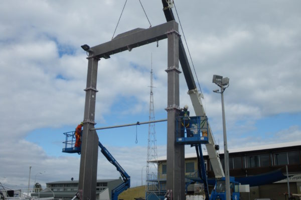 Aluminium A-frame repairs and installation 2
