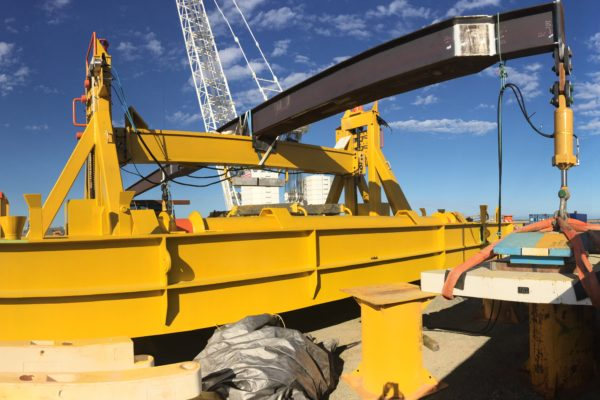 Subsea pipe support - Assembly and load testing